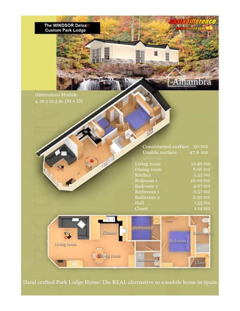 The Windsor park home floor plan